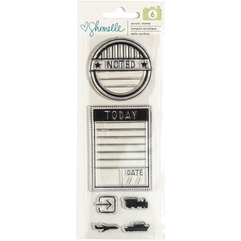 American Crafts Shimelle ACRYLIC STAMPS Go Now Go 375277