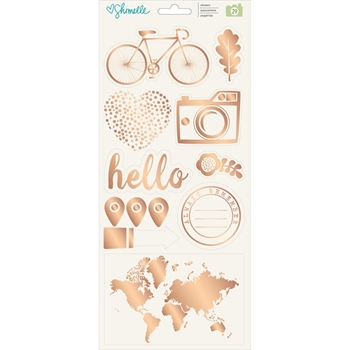 American Crafts Shimelle ACCENTS AND PHRASES Stickers Go Now Go 375274