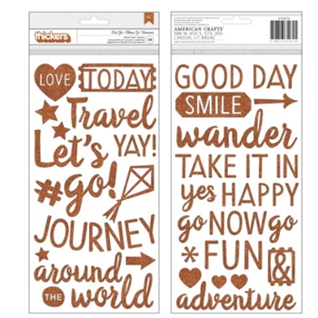 American Crafts Shimelle LET'S GO Thickers Stickers Go Now Go 375272