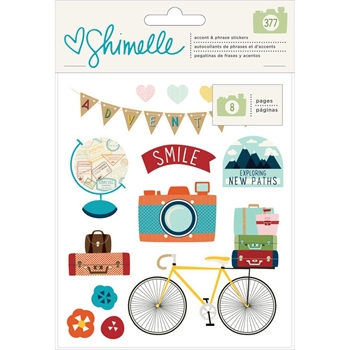 American Crafts Shimelle STICKER BOOK Go Now Go 375273