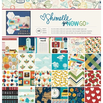 American Crafts Shimelle 12x12 GO NOW GO Paper Pad 375268