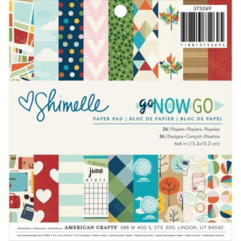 American Crafts Shimelle 6x6 GO NOW GO Paper Pad 375269