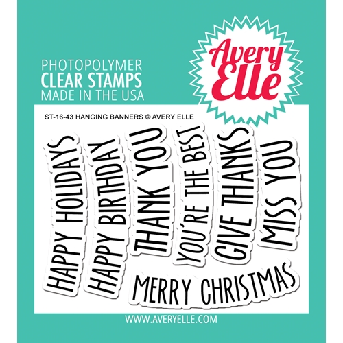 Avery Elle Clear Stamps HANGING BANNERS Set ST-16-43 Preview Image