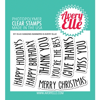 Avery Elle Clear Stamps HANGING BANNERS Set ST-16-43