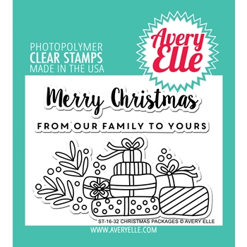 Avery Elle Clear Stamps CHRISTMAS PACKAGES Set ST-16-32