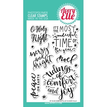 Avery Elle Clear Stamps COMFORT AND JOY Set ST-16-30