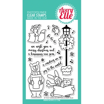 Avery Elle Clear Stamps CAROLING CRITTERS Set ST-16-37