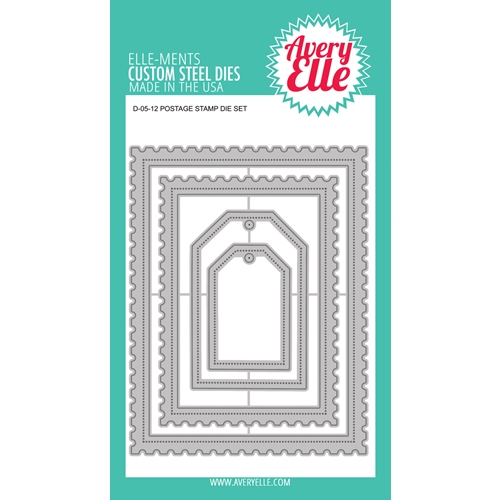 Avery Elle Steel Dies POSTAGE STAMP DIE D-05-12 Preview Image