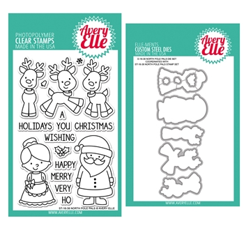 Avery Elle Clear Stamp and Die SETNPAE North Pole Pals SET