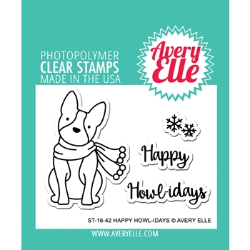 Avery Elle Clear Stamps HAPPY HOWL-IDAYS Set ST-16-42