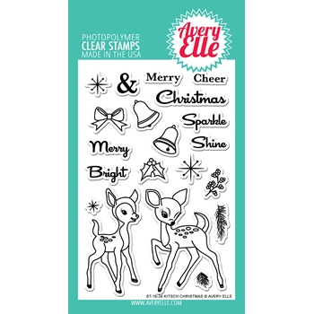 Avery Elle Clear Stamps KITSCH CHRISTMAS Set ST-16-34