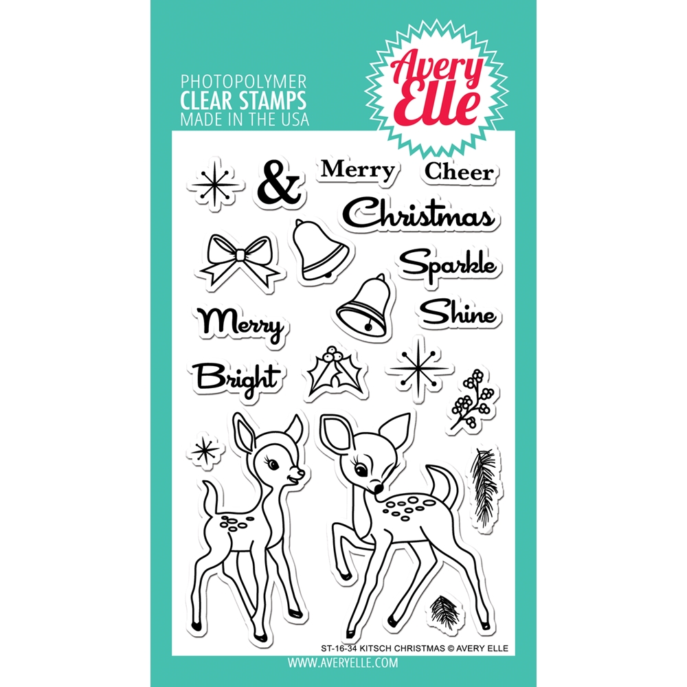 Avery Elle Clear Stamps KITSCH CHRISTMAS Set ST-16-34 zoom image
