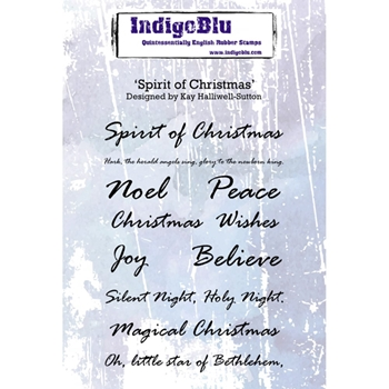 Indigoblu Cling Stamp SPIRIT OF CHRISTMAS Rubber IND0265*