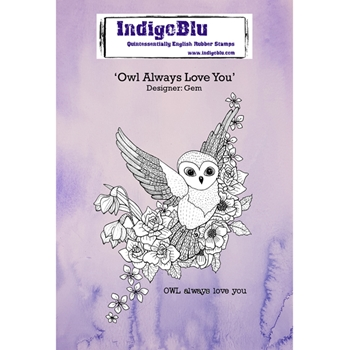 Indigoblu Cling Stamp OWL ALWAYS LOVE YOU Rubber IND0278*