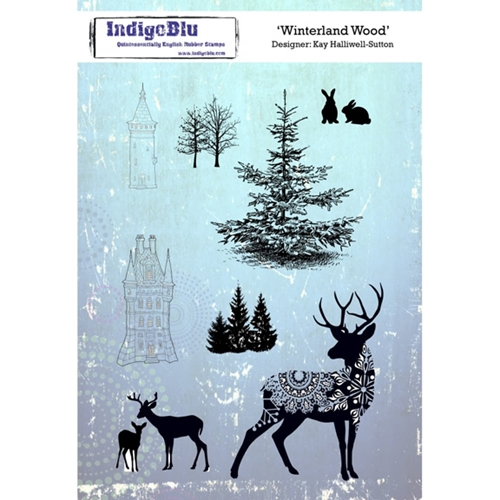 Indigoblu Cling Stamp WINTERLAND WOOD Rubber IND0268 Preview Image