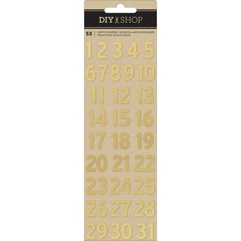 American Crafts GOLD NUMBERS Puffy Stickers 376310 DIY Shop 4
