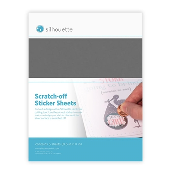 Silhouette SILVER Scratch Off Sticker Sheets 01909