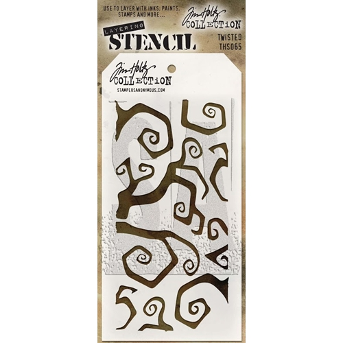 Tim Holtz Layering Stencil TWISTED THS065 Preview Image