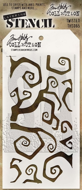 Tim Holtz Layering Stencil TWISTED THS065 zoom image