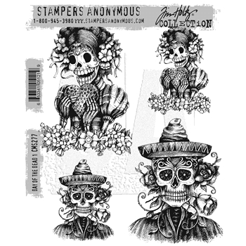 Tim Holtz Cling Rubber Stamps 2016 DAY OF THE DEAD #1 CMS277