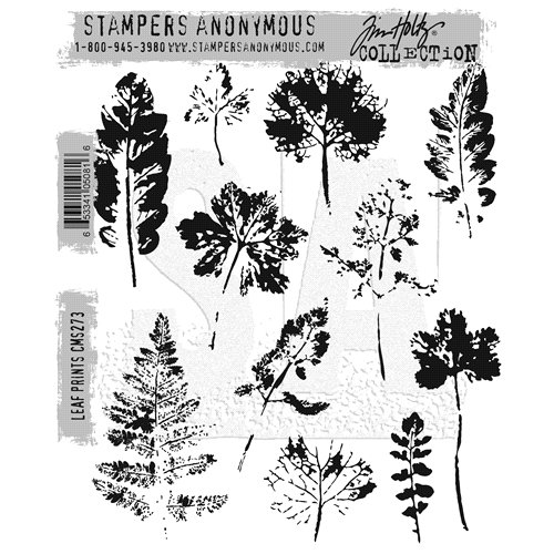 Tim Holtz Cling Rubber Stamps 2016 LEAF PRINTS CMS273 Preview Image