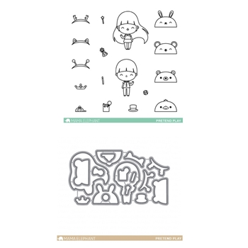 Mama Elephant Clear Stamp and Die MEPT279 Pretend Play SET