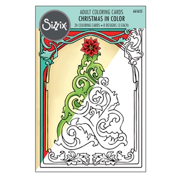 Sizzix CHRISTMAS IN COLOR Adult Coloring Cards 661633