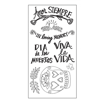 Sizzix Clear Stamps DAY OF THE DEAD 661317