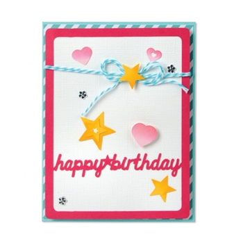 Sizzix Framelits CARD FRONT WITH SCRIPT WORDS Drop-Ins Wafer Thin Die Set 661563