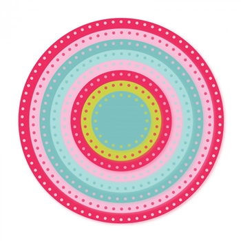 Sizzix Framelits CIRCLES DOTTED Wafer Thin Die Set 661560