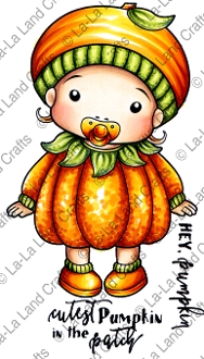 La-La Land Crafts Cling Stamp BABY PUMPKIN MARCI 5315