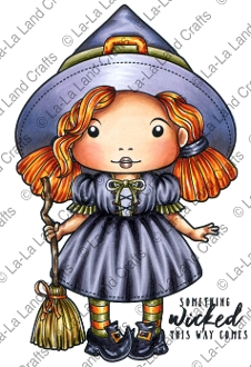 La-La Land Crafts Cling Stamp WITCH MARCI 5313