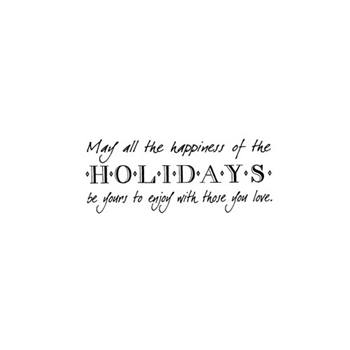 Verses HAPPINESS OF HOLIDAYS Cling Stamp CH0154ECL