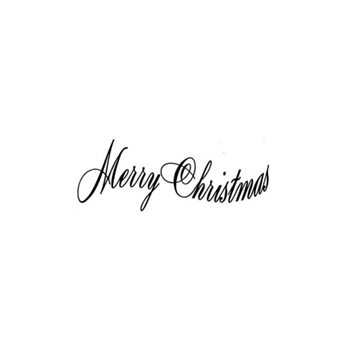 Verses MERRY CHRISTMAS CURVED Cling Stamp CH0147ECL
