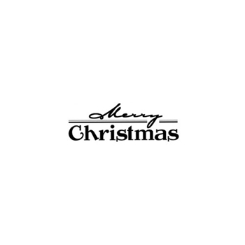 Verses MERRY CHRISTMAS Cling Stamp CH0145DCL