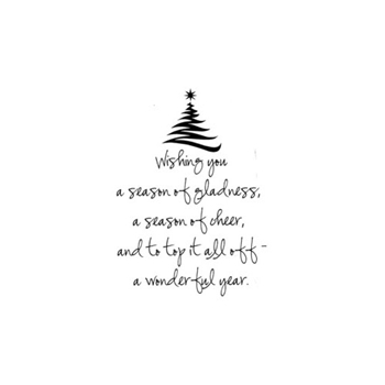 Verses A SEASON OF GLADNESS Cling Stamp CH0143FCL
