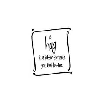 Verses HUG IN A LETTER Cling Stamp MC0630FCL