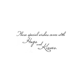 Verses THESE SPECIAL WISHES Cling Stamp BB0432ECL