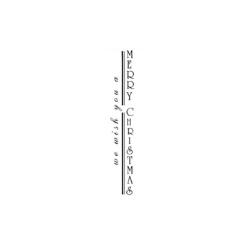 Verses VERTICAL WE WISH YOU Cling Stamp CH0164DCL