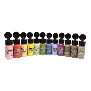 Tim Holtz FLIP TOP DISTRESS PAINT SET Ranger RANGER94