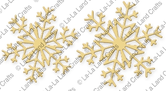 La-La Land Crafts LARGE SNOWFLAKES 2 Die Set 8223
