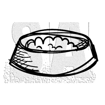 Tim Holtz Rubber Stamp CRAZY BOWL Stampers Anonymous D2-2867