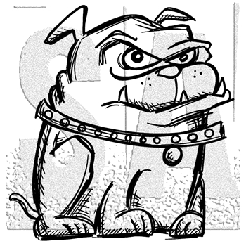 Tim Holtz Rubber Stamp CRAZY DOG 2 Stampers Anonymous H2-2869