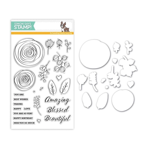 Simon Says Stamps and Dies SKETCH RANUNCULUS Set261SR Preview Image