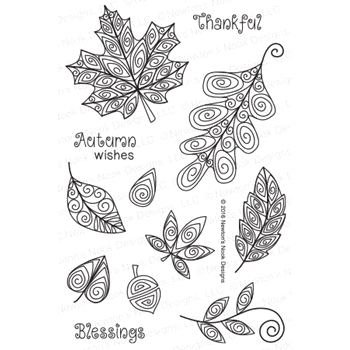 Newton's Nook Designs BEAUTIFUL LEAVES Clear Stamp Set 20160802