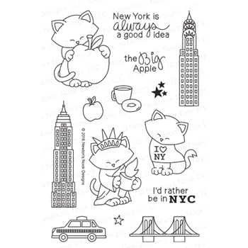 Newton's Nook Designs NEWTON DREAMS OF NEW YORK Clear Stamp Set 20160801