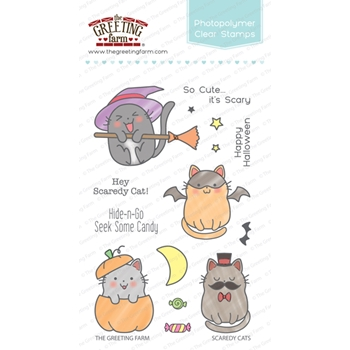 The Greeting Farm SCAREDY CATS Clear Stamps TGF266