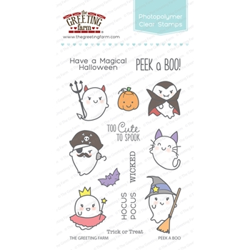 The Greeting Farm PEEK A BOO Clear Stamps TGF268