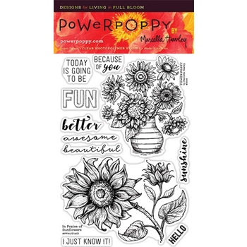 Power Poppy IN PRAISE OF SUNFLOWERS Nature And Nurture Clear Stamp Set PPAUG1601