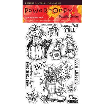 Power Poppy FEELING FALL Nature And Nurture Clear Stamp Set PPAUG1602